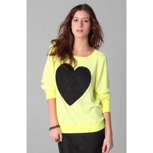 Wildfox Yellow Heart Sweatshirt